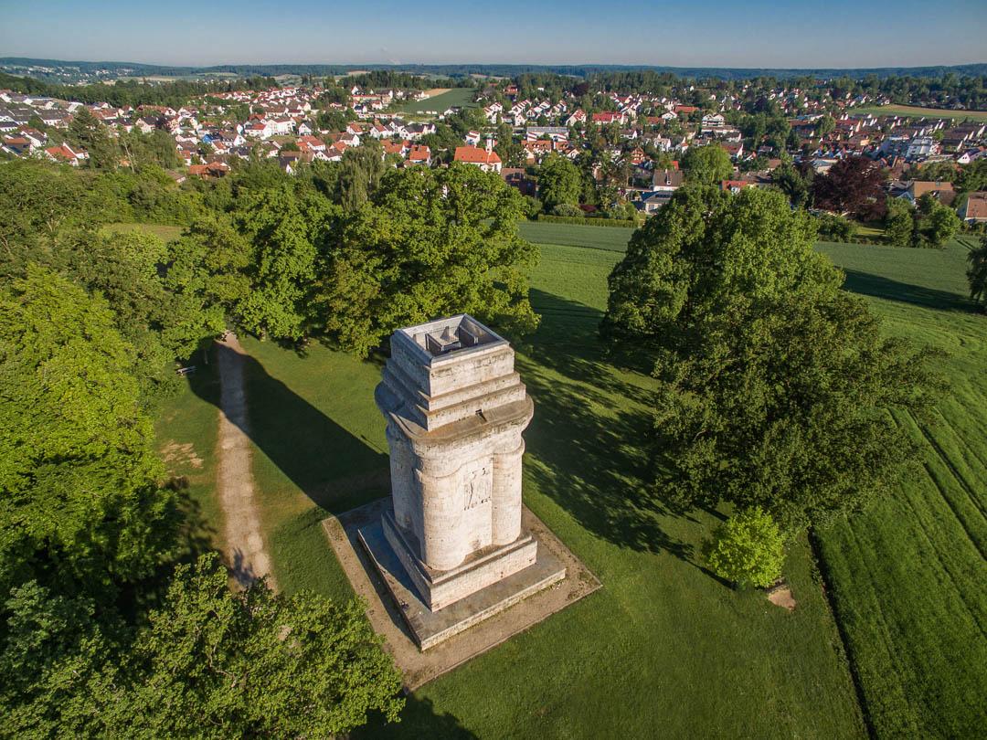 Luftaufnahme Neusäß - Bismarckturm