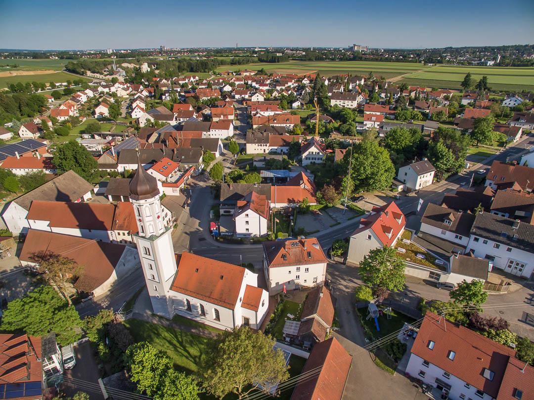 Luftaufnahme Neusäß - OT Täfertingen