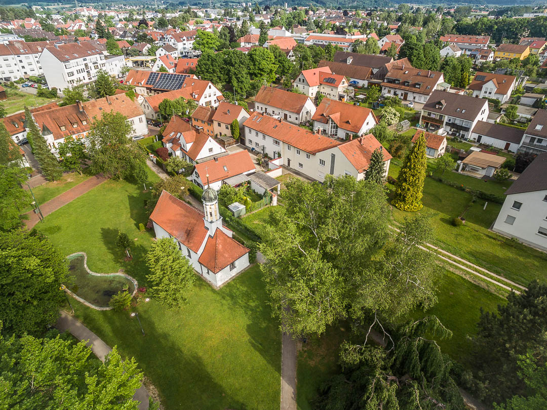 Luftaufnahme Neusäß - Ägidiuspark