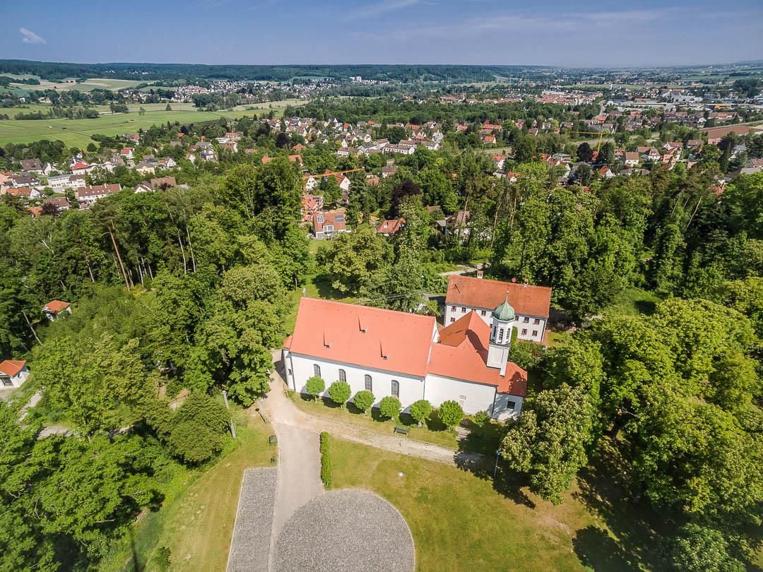 Luftaufnahme Neusäß - Kobelkirche